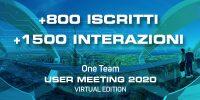 La piattaforma virtuale dell'innovazione: One Team User Meeting 2020
